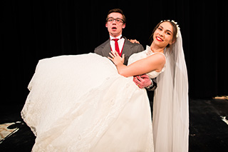 Photo of CLC students in Wedding Duet, a one-act play