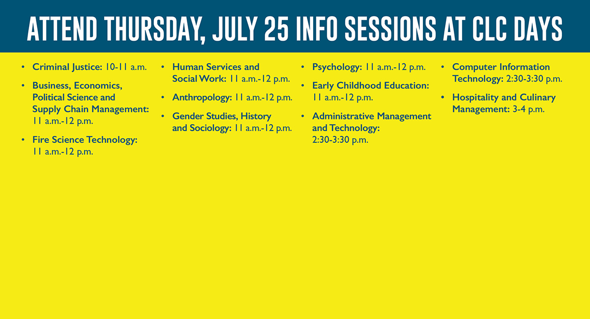 Learn the latest from our faculty during these info sessions!