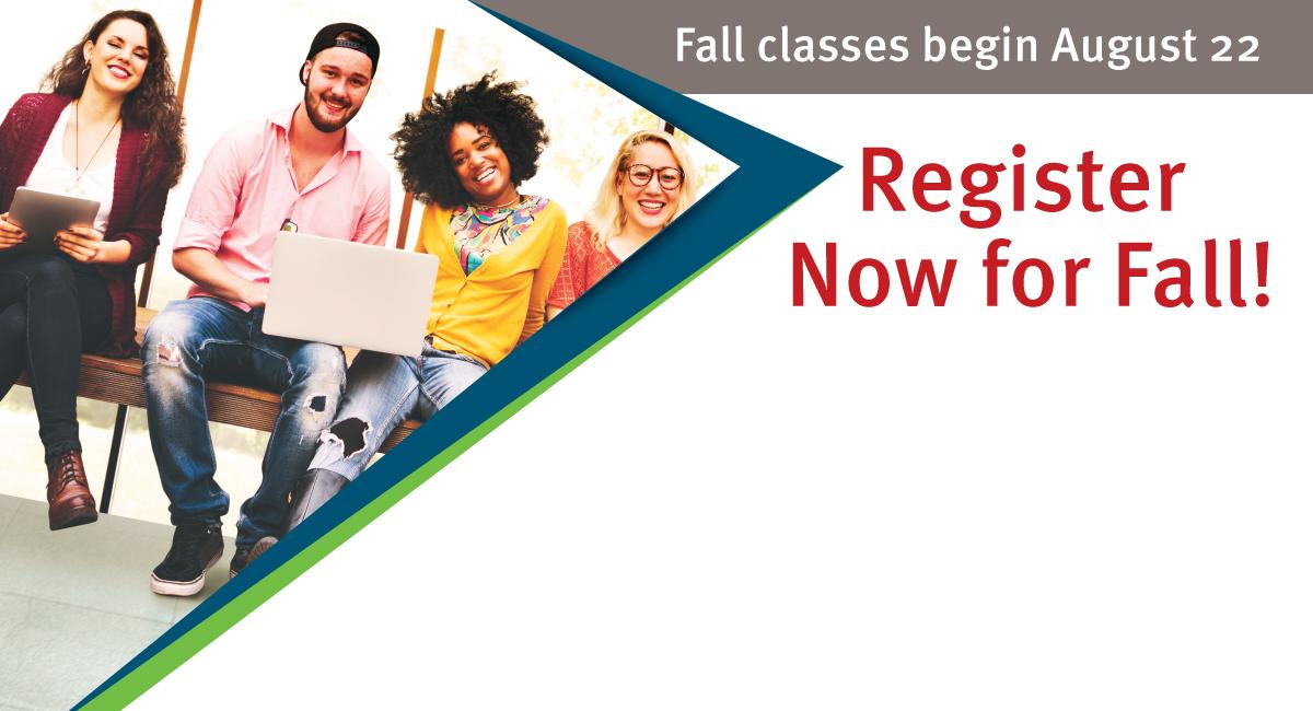 Register now for Fall! Classes begin August 22.