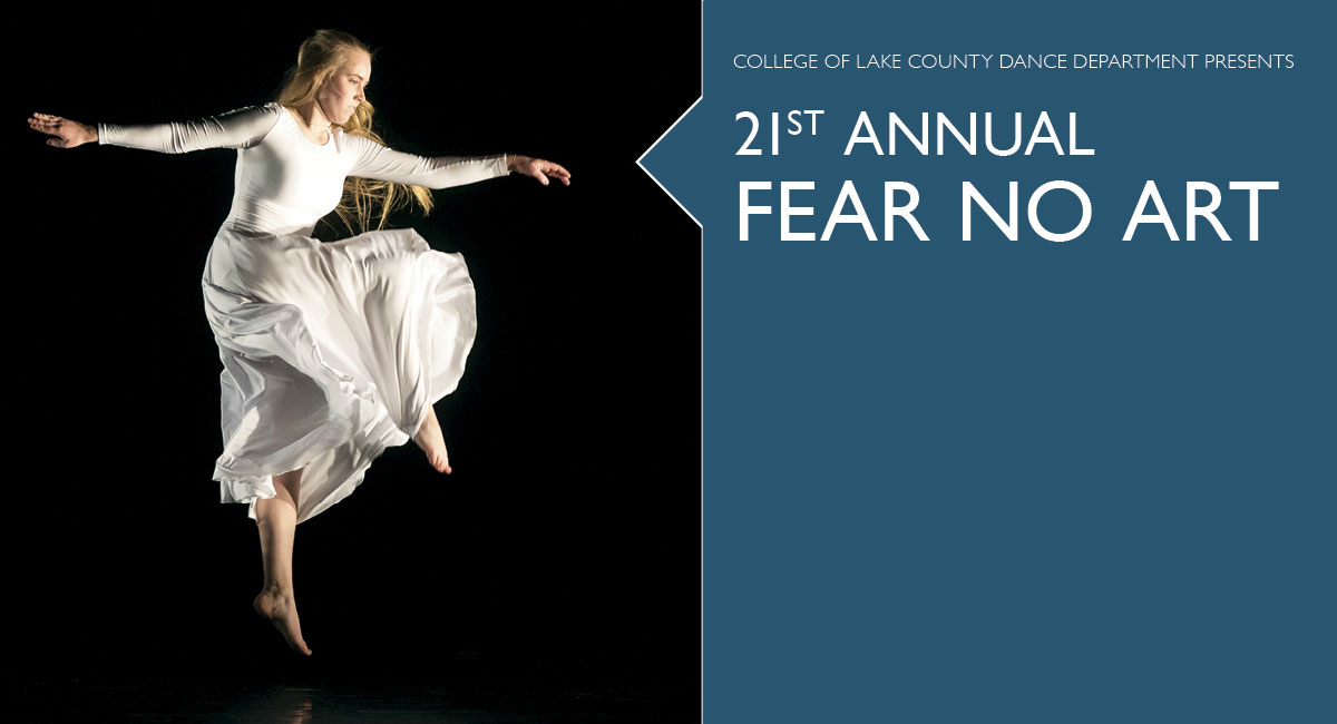 CLC Dance Department Presents 21st Annual Fear No Art (Photo of dancer)