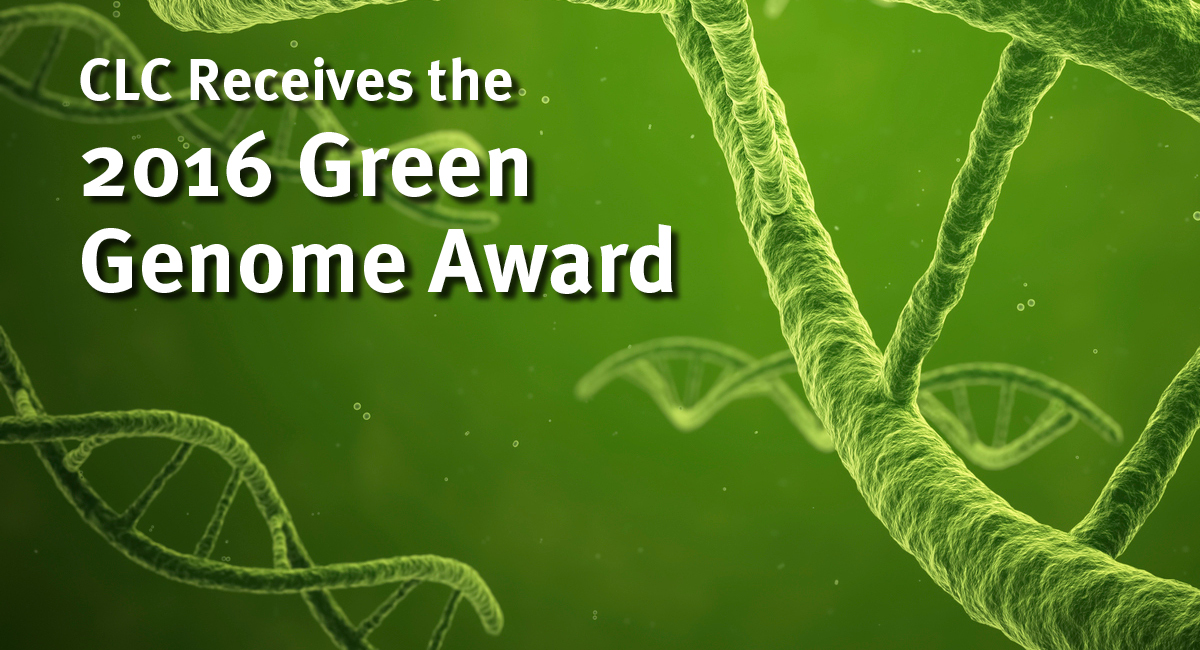 CLC Receives the 2016 Green Genome Award