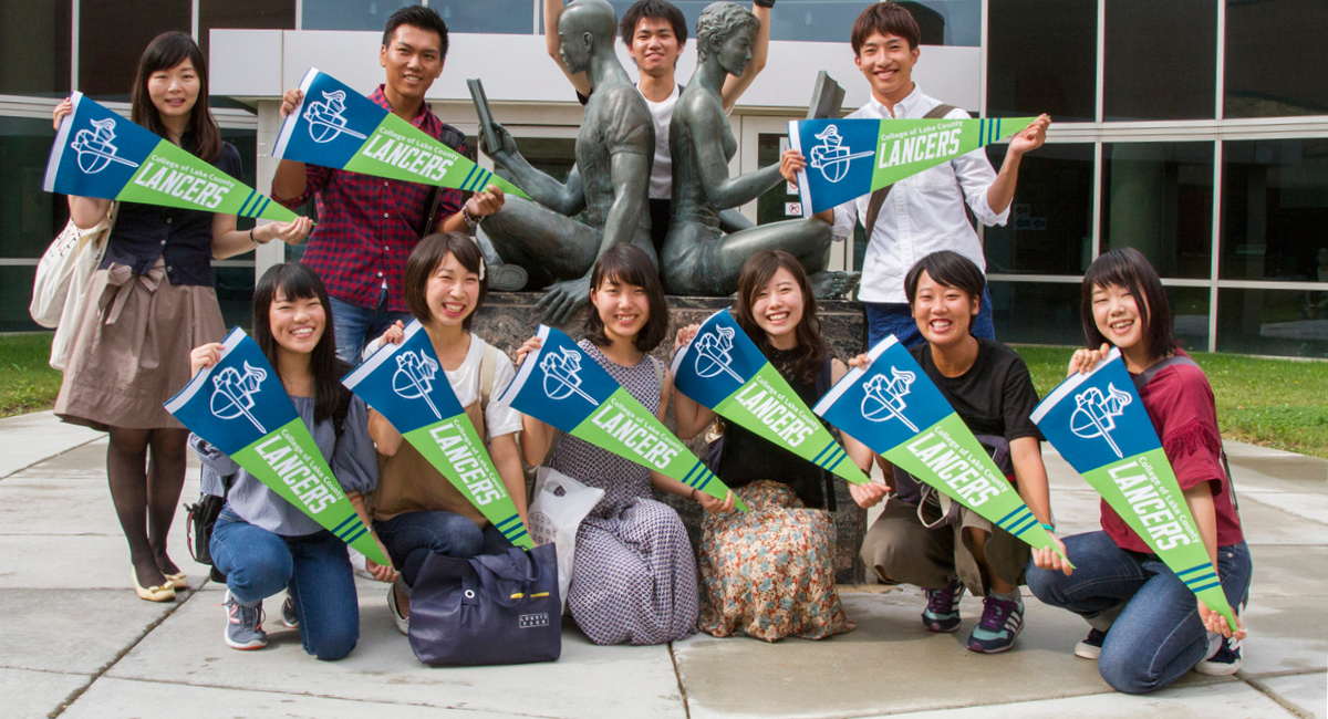 Students from Ehime University in Japan