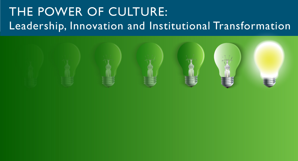 Power of Culture Event Banner. A conversation with Carol Lavin Bernick - business leader, higher education advocate and leading philanthropist. June 27, 2019, 1-3 p.m., James Lumber Center, Grayslake Campus