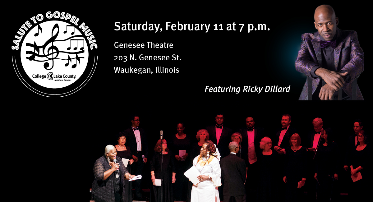 Salute to Gospel featuring Ricky Dillard, Saturday Feb. 11 at 7 p.m., Genesee Theatre, Waukegan