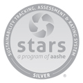 Silver STARS rating from AASHE
