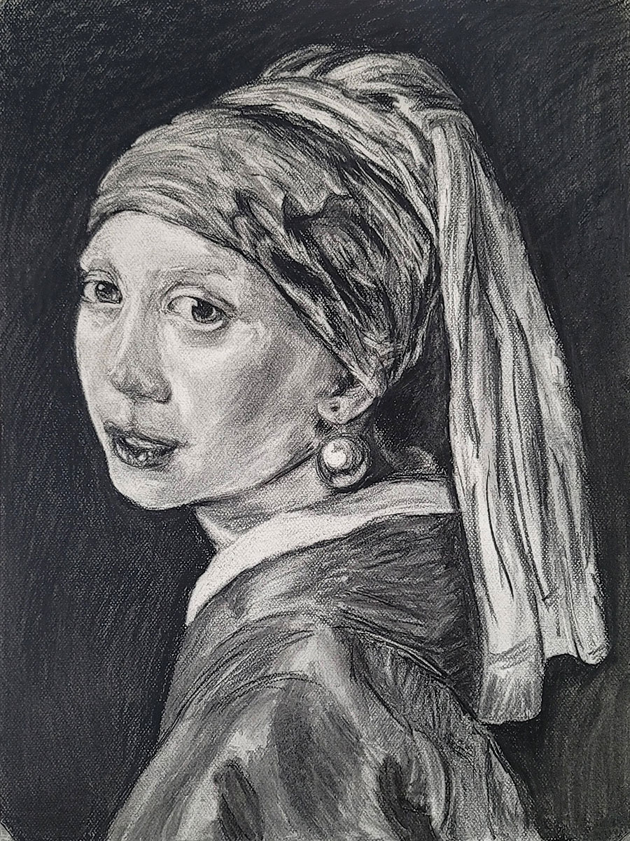 Master Study, Girl with a Pearl Earring Study: Johannes Vermeer by Lisa Murphy