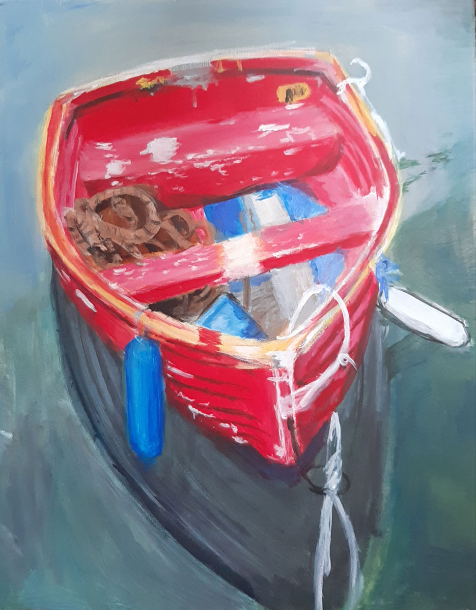 Red Boat Afloat by Pelumi Rotimi-Ajayi