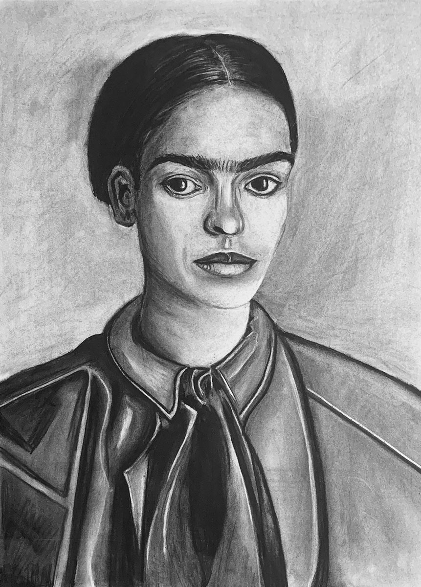 Portrait of Frida Kahlo by Susana Farias