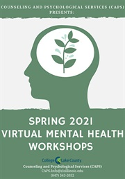 Spring 2021 Virtual Mental Health Workshops