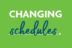 Graphic text of Changing Schedules