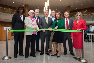 CLC trustees and President Weber cut ribbon campus core