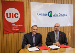 CLC UIC signing ceremony - Haney and Browne