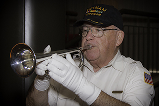 Photo of Memorial Day bugler Jim Reynolds