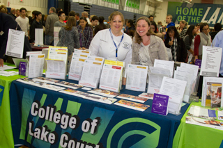 College Fair booth