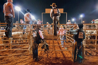 Rodeo photo from Mark Alan Francis exhibit Rituals