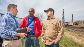 HVAC class visits geothermal field site