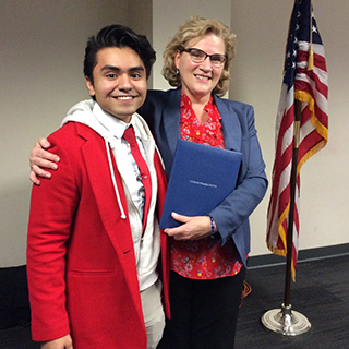 Photo of Hansel Lopez and Vice Chair Catherine Finger