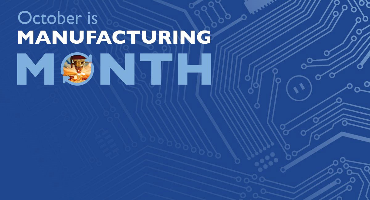 October is Manufacturing Month | gears icon